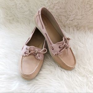 Sorry Boat Shoes Leather Pink Size 8.5 M women's